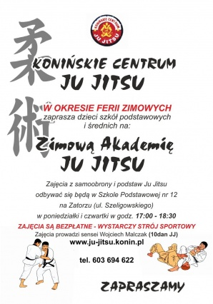 Na aktywne ferie zimowe zaprasza Konińskie Centrum Ju-Jitsu