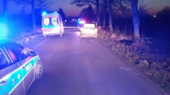Śmiertelny wypadek w miejscowości Mokre. Nie żyje rowerzysta