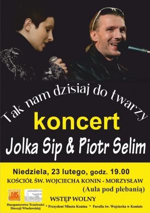 Koncertu znakomitego duetu Jolka Sip & Piotr Selim