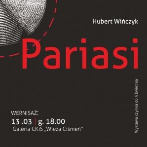"""Otwarcie wystawy Huberta Wińczyka - instalacja """"Pariasi"""""""