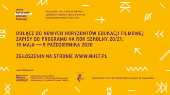 Nowa edycja Nowych Horyzontów Edukacji Filmowej już jesienią