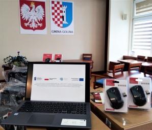 Laptopy dla uczniów szkół podstawowych w gminie Golina