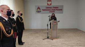 Kameralna uroczystość Dnia Strażaka w konińskiej komendzie
