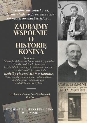 Zadbajmy wspólnie o historię Konina. Biblioteka czeka na pamiątki