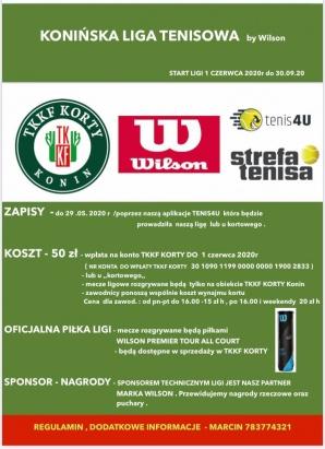 Rusza Konińska Liga Tenisowa. Zapisy do 29 maja, start w czerwcu