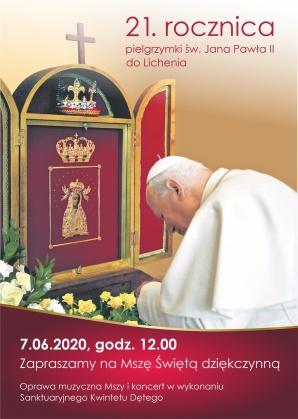 Licheń. Mszą dziękczynną uczczą rocznicę wizyty św. Jana Pawła II