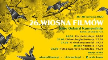 26. Wiosna Filmów w Kinie Oskard Kameralnie