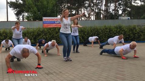 #GaszynChallenge. Właściciele i pracownicy Hydrostal Konin podjęli wyzwanie PGKiM i pompowali dla Alicji
