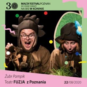 """spektakl dla dzieci """"Żubr Pompik"""" - Malta na bis w Koninie"""