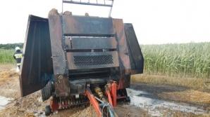 Kolejny pożar podczas prac polowych. Zapaliła się prasa rolnicza