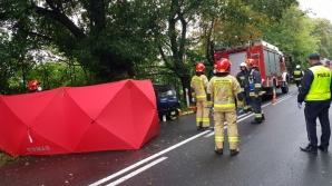 Wypadek w Zagórowie. Kierująca daewoo uderzyła w drzewo
