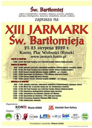 Jarmark św. Bartłomieja odbędzie się w Koninie po raz trzynasty