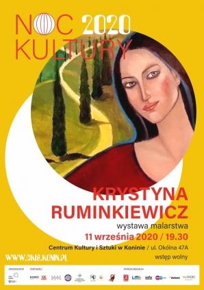 """Noc Kultury: otwarcie wystawy Krystyny Ruminkiewicz """"nie tylko ONE"""""""