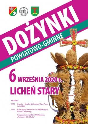 Dożynki Powiatowo-Gminne w Licheniu, bez części artystycznej