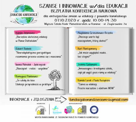 Szanse i innowacje w edukacji. Konferencja naukowa w Koninie