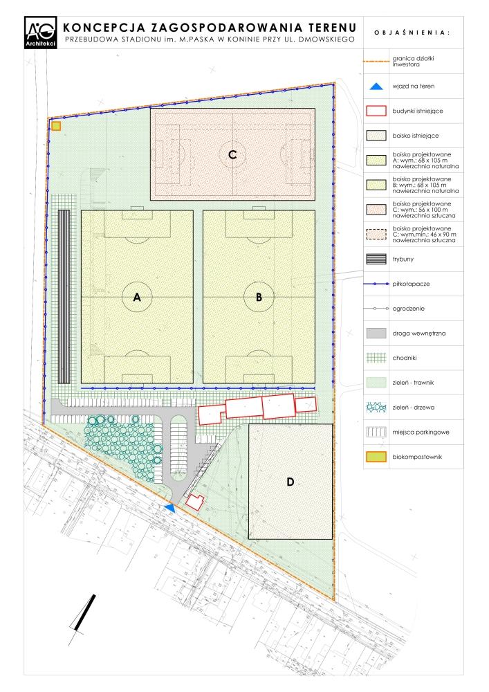 Stadion przy ul. Dmowskiego będzie przebudowany. Miasto pokazało projekt, będzie wnioskować o środki z ministerstwa