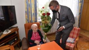 Na urodzinach u Zofii Zapaśnik. Koninianka skończyła 103 lata