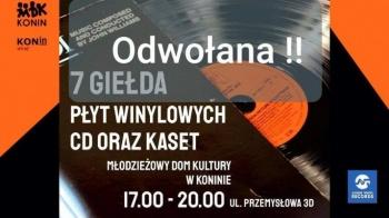 """""""Giełda muzyczna - Vinyl zone"""" w konińskim MDK została odwołana"""