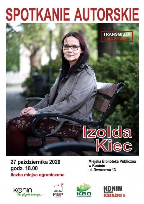 Spotkanie autorskie z prof. Izoldą Kiec. Transmisja o godz. 18.00