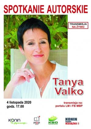 Spotkanie autorskie online z Tanyą Valko. Konin lubi książki 5