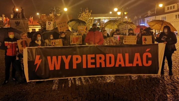 Ślesin protestuje! Maszerowali w obronie praw kobiet