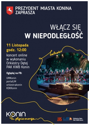 """Koncert """"Włącz się w Niepodległość"""" 11 listopada o godzinie 12.00"""
