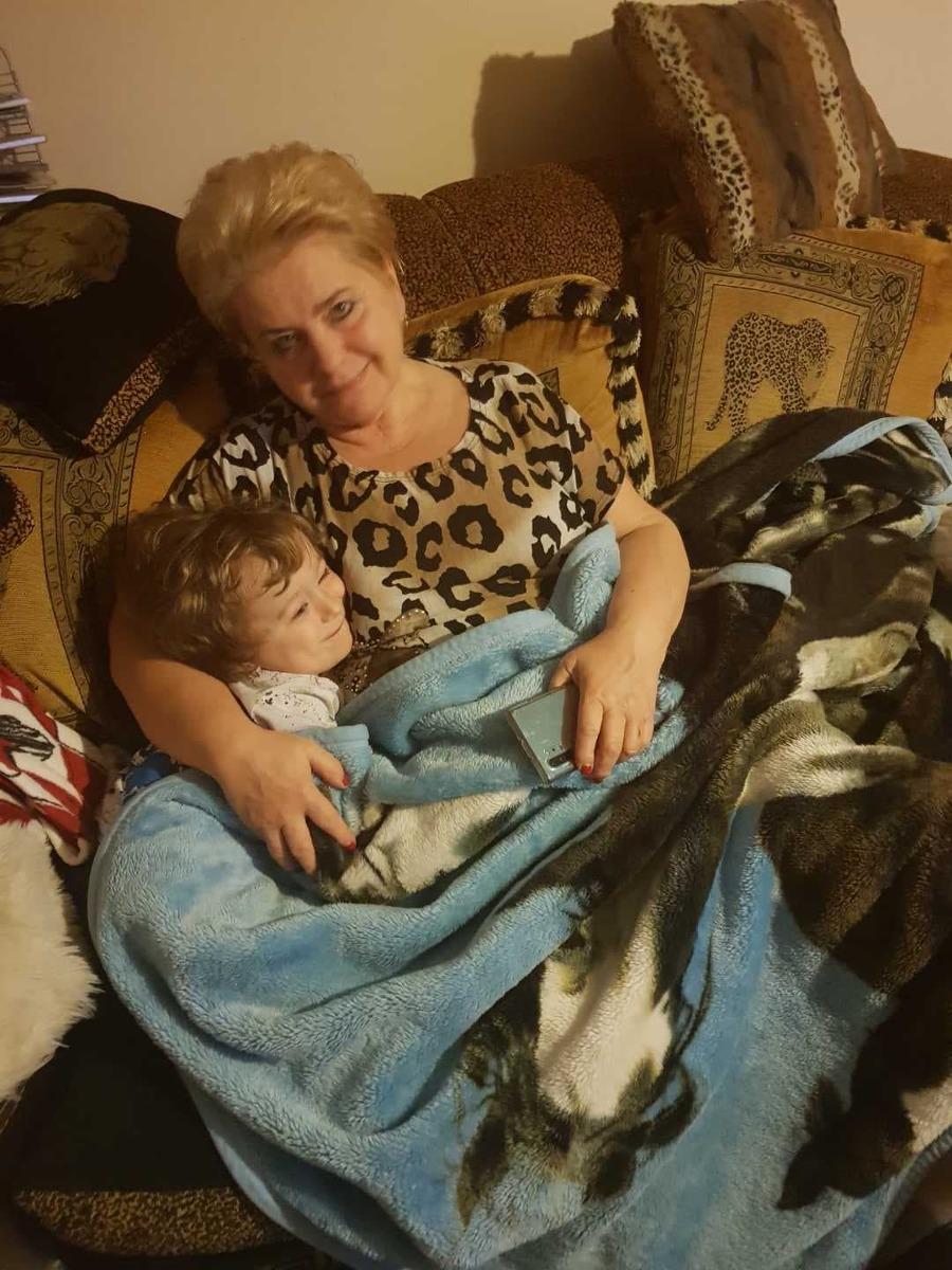 Bożena Janicka z 3-letnim Dominikiem.