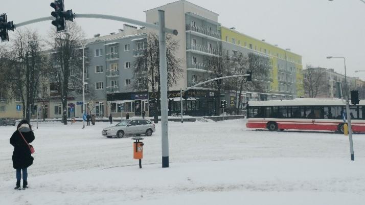 Przysypane śniegiem centrum miasta. Zobaczcie zimowy Konin!