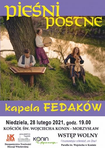 """Konin. """"Pieśni postne"""" w wykonaniu Kapeli Fedaków ze Śląska"""