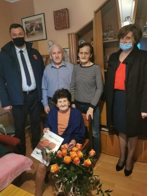 Jubilatka z Liśca Wielkiego z uśmiechem świętuje 105 urodziny