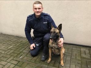 Kłodawa. Policyjny pies znalazł amfetaminę. Zatrzymano 32-latka