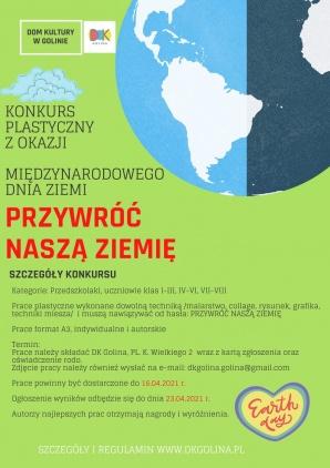 Golina. Konkurs plastyczny z okazji Międzynarodowego Dnia Ziemi