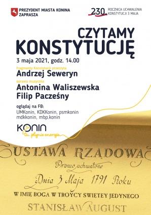 3 Maja w Koninie czytamy Konstytucję z Andrzejem Sewerynem