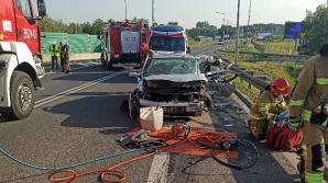 Modła Królewska. Wypadek na drodze krajowej. Kierowca ranny