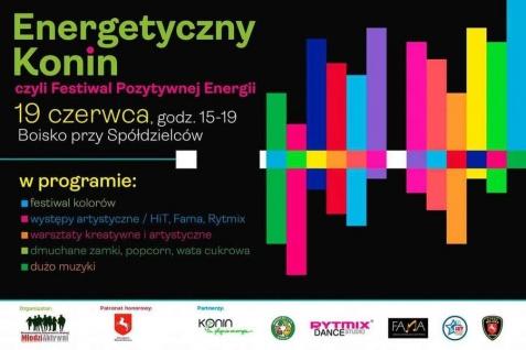 Festiwal Pozytywnej Energii na konińskim Chorzniu. Będzie kolorowo!