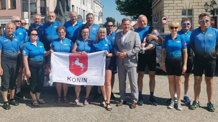 Z Konina do Konina przez Konin. Rowerzyści promują miasto