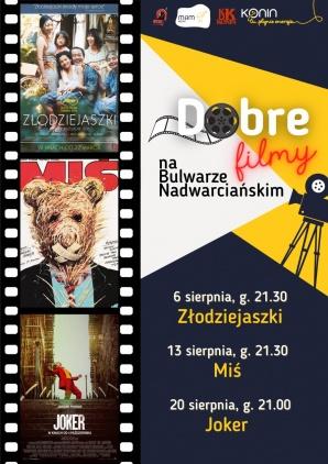Dobre filmy na Bulwarze Nadwarciańskim jak zwykle w sierpniu