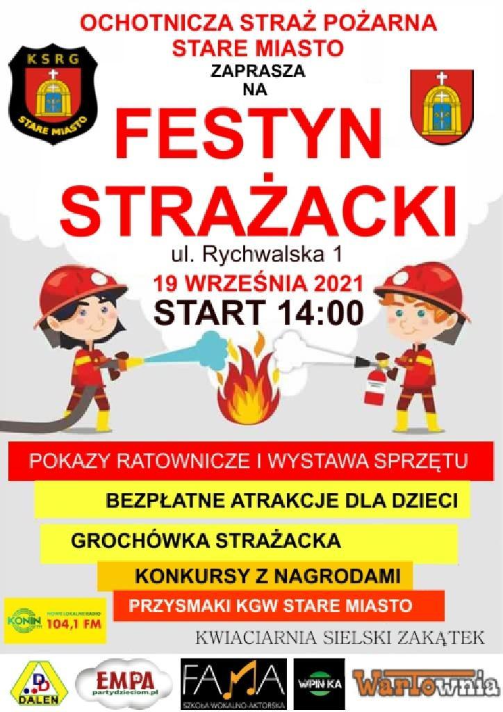 """Festyn strażacki na """"Dzień Otwarty"""" w OSP Stare Miasto"""