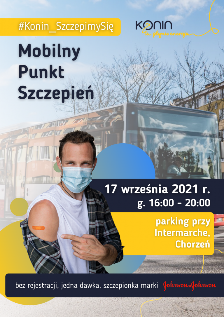 Mobilny Punkt Szczepień. Autobus zaparkuje na konińskim Chorzniu