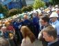Energetycy wyszli na śniadanie przed siedzibę zarządu ZE PAK