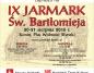 Starocie na rynku, czyli Jarmark św. Bartłomieja po raz dziewiąty