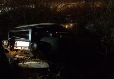 Land Rover wpadł do rowu pod Słupcą. Pięć osób zostało rannych
