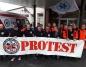 Konin. Ratownicy przyłączyli się do ogólnopolskiego protestu