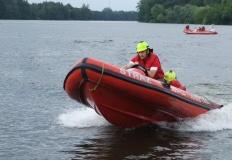 Licheń. Strażacy ochotnicy z całego kraju rywalizują na wodzie
