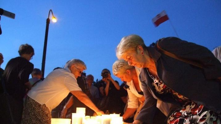 Mieszkańcy Konina protestowali przeciwko zmianom w sądownictwie