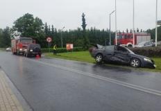 Wypadek w Licheniu. Na prostej drodze zderzyły się dwa auta