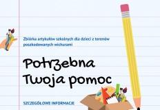 Zbiórka artykułów szkolnych dla poszkodowanych przez nawałnice