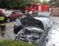 Konin. Strażacy ugasili pożar samochodu przy ulicy Kaliskiej