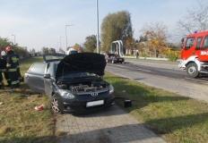 Konin. Wypadek na ulicy Zakładowej. Dwie osoby poszkodowane