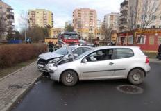 Konin. Wypadek na ul. Wieniawskiego. Jedna osoba poszkodowana